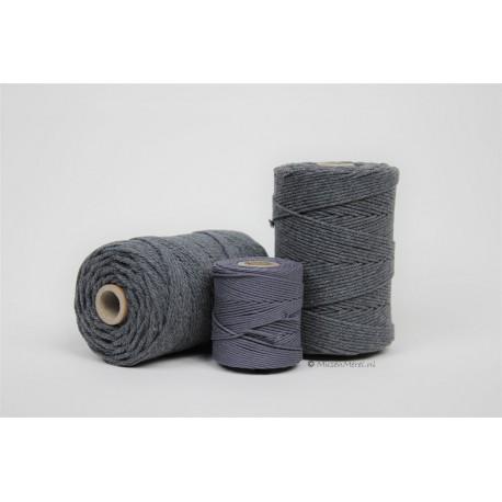 Eco Cotton Twine - Grafiet Grijs - 1,5 mm
