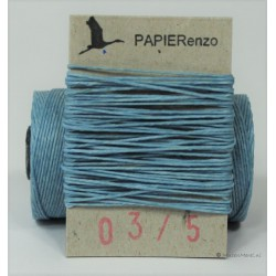 gewaxt linnen 18/4 - licht blauw (5 meter)