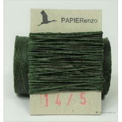 gewaxt linnen 18/4 - donker smaragd groen (5 meter)