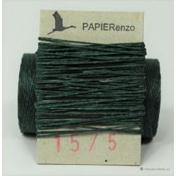 gewaxt linnen 18/4 - donker groen (5 meter)