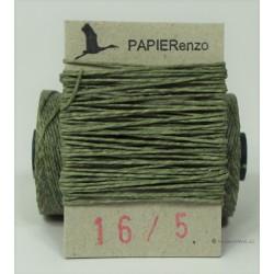 gewaxt linnen 18/4 - olijf groen (5 meter)
