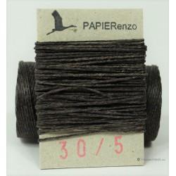 gewaxt linnen 18/4 - donker chocolade bruin (5 meter)
