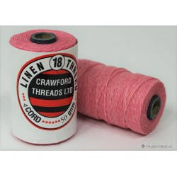 gewaxt linnen 18/4 - licht roze