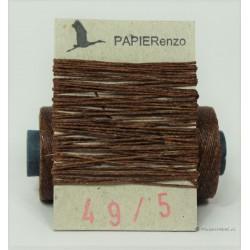 gewaxt linnen 18/2 - walnoot bruin (5 meter)