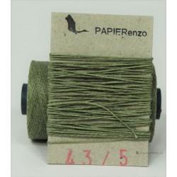 gewaxt linnen 18/2 - olijf groen (5meter)