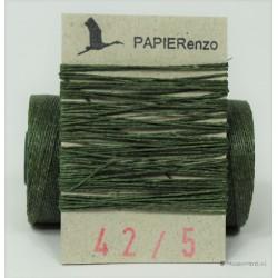 gewaxt linnen 18/2 - donker smaragd groen (5 meter)