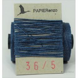 gewaxt linnen 18/2 - koningsblauw (5 meter)