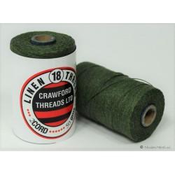 gewaxt linnen 18/2 - donker smaragd groen