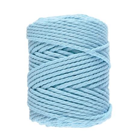 Macramé 10 - Azuurblauw - 5 mm