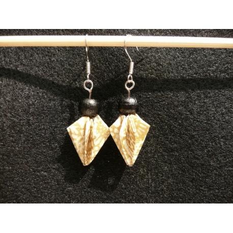Oorbellen met Washi Origami kralen