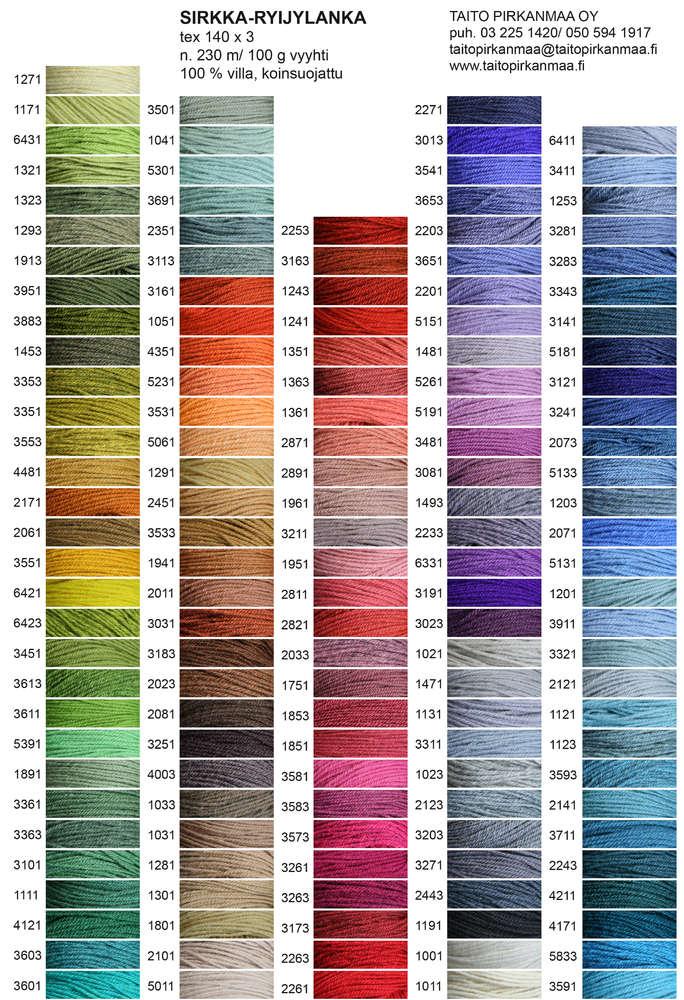 Kleuren Ryijy Rya uit Finland