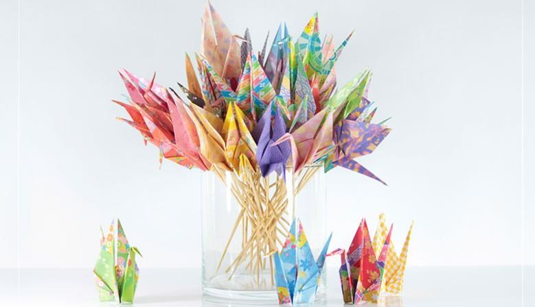 Origami bloemenvaas